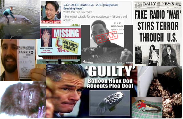 some of the many hoaxes