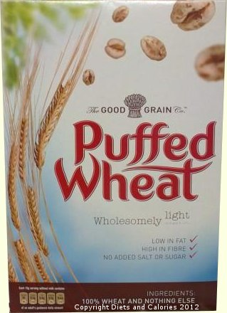 Diets and Calories: Puffed Wheat Cereal, Low Sugar and Fat