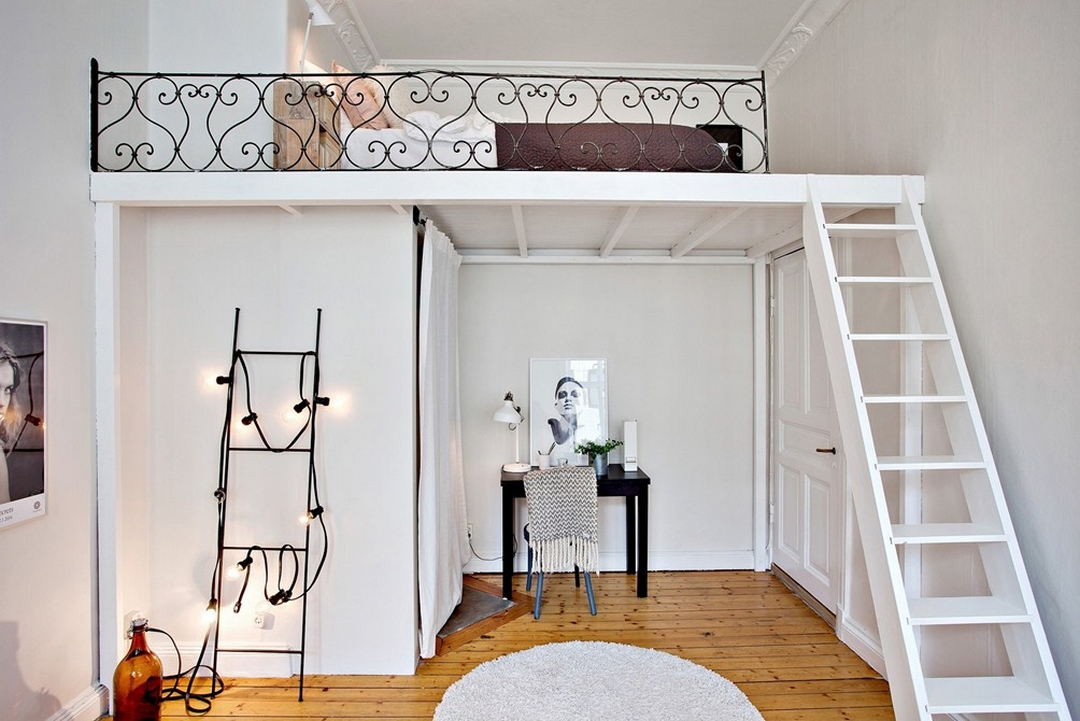 d couvrir l 39 endroit du d cor la mezzanine aux volutes. Black Bedroom Furniture Sets. Home Design Ideas