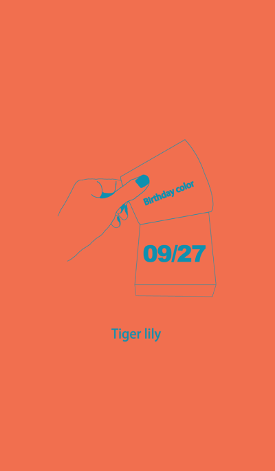 Birthday color September 27 simple: