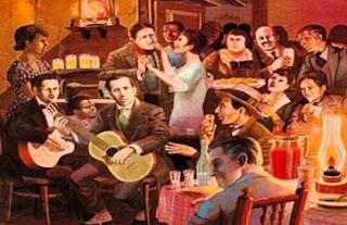 Dibujo alusivo a la celebración de la Canción Criolla