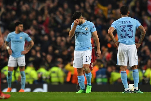 Liverpool, and Champions League, Dent Manchester City's Lofty Status