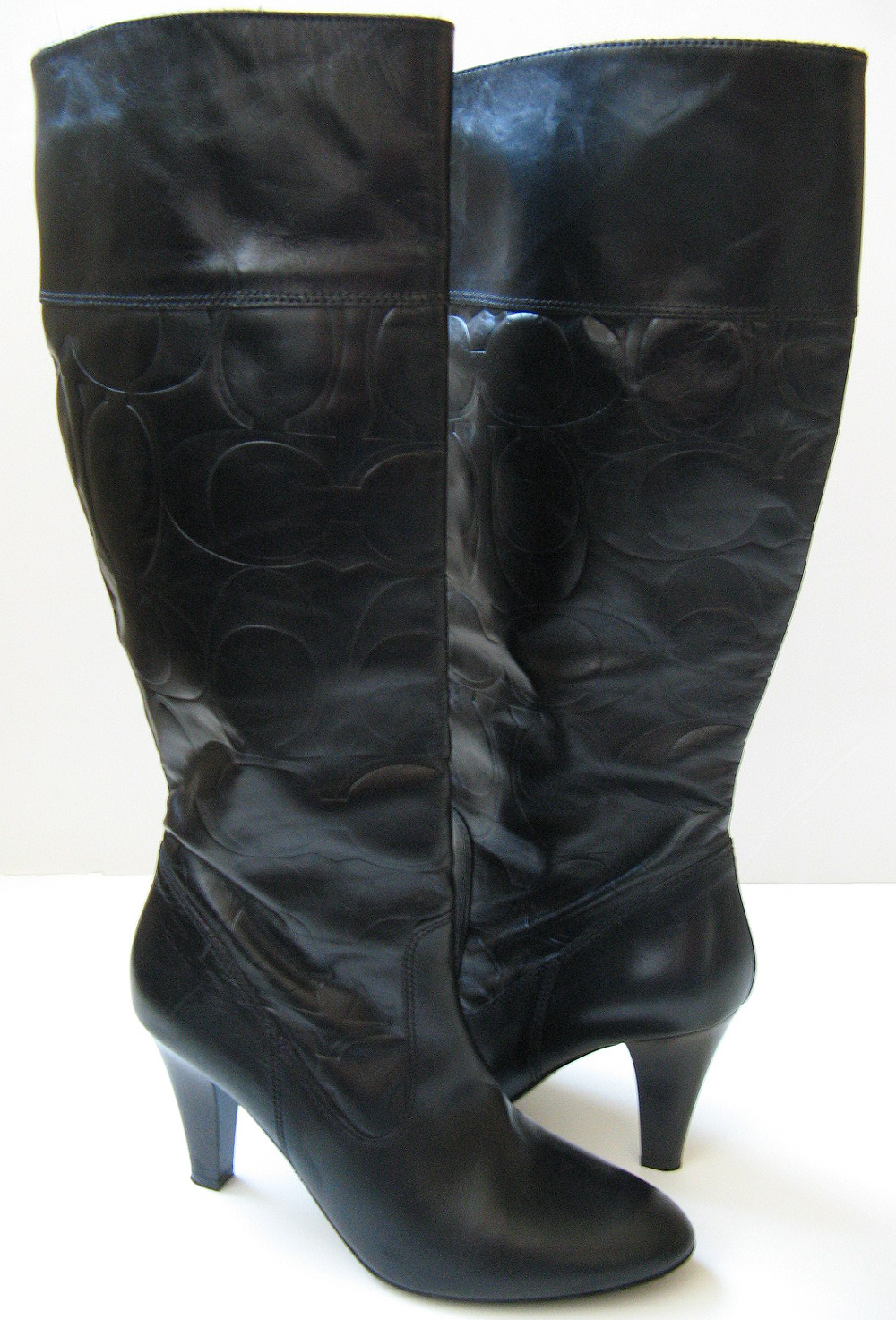 Coach Tall Knee High Boots Black Leather Boots Women S Size 9