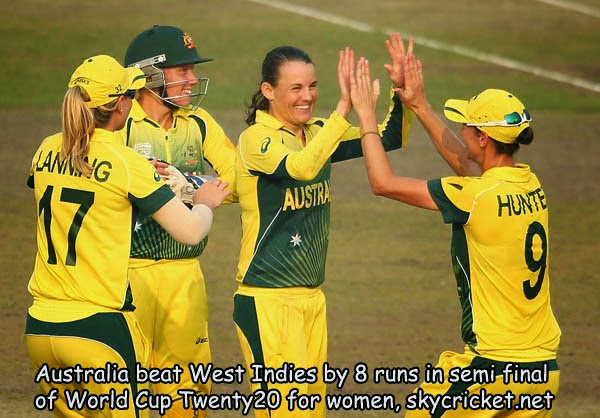 Australia qualify for final by beating West Indies