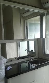 contoh top table kitchen menggunakan granit
