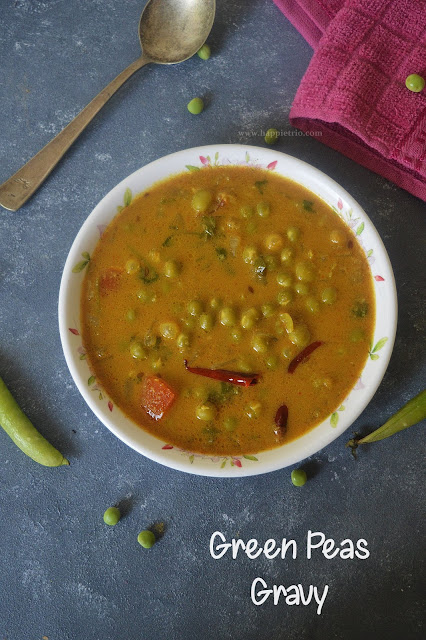 Green Peas Gravy Recipe | Pachai Patani Curry | Green Peas Coconut Masala
