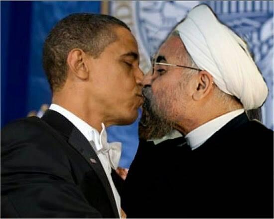 عکس لو رفته از آشتی کنون حسین اوباما و شیخ حسن