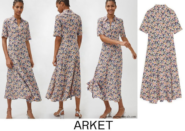 Crown Princess Victoria wore ARKET Floral Crepe Dress