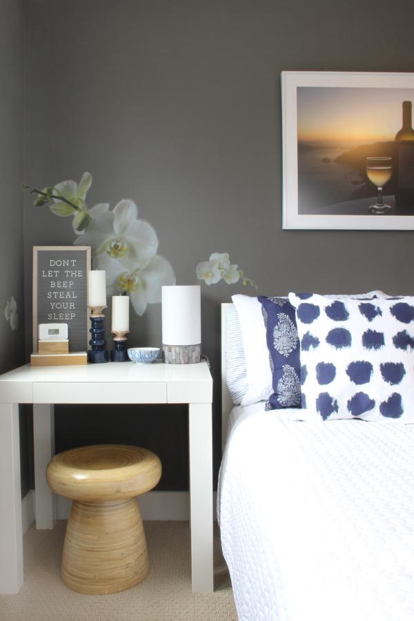 tabletop carbon monoxide alarm in guest room