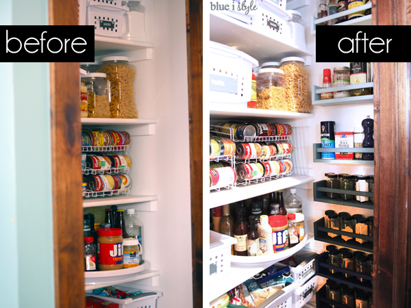 Pantry wall before and after spices