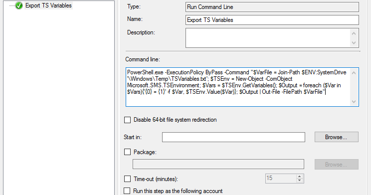 Engineering Efficiency: Export SCCM task sequence variables
