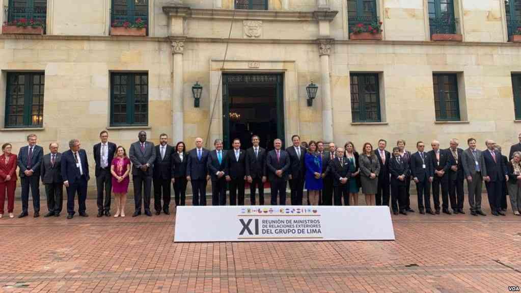 El Grupo de Lima firmó la resolución sobre Venezuela con una salida pacífica / VOA