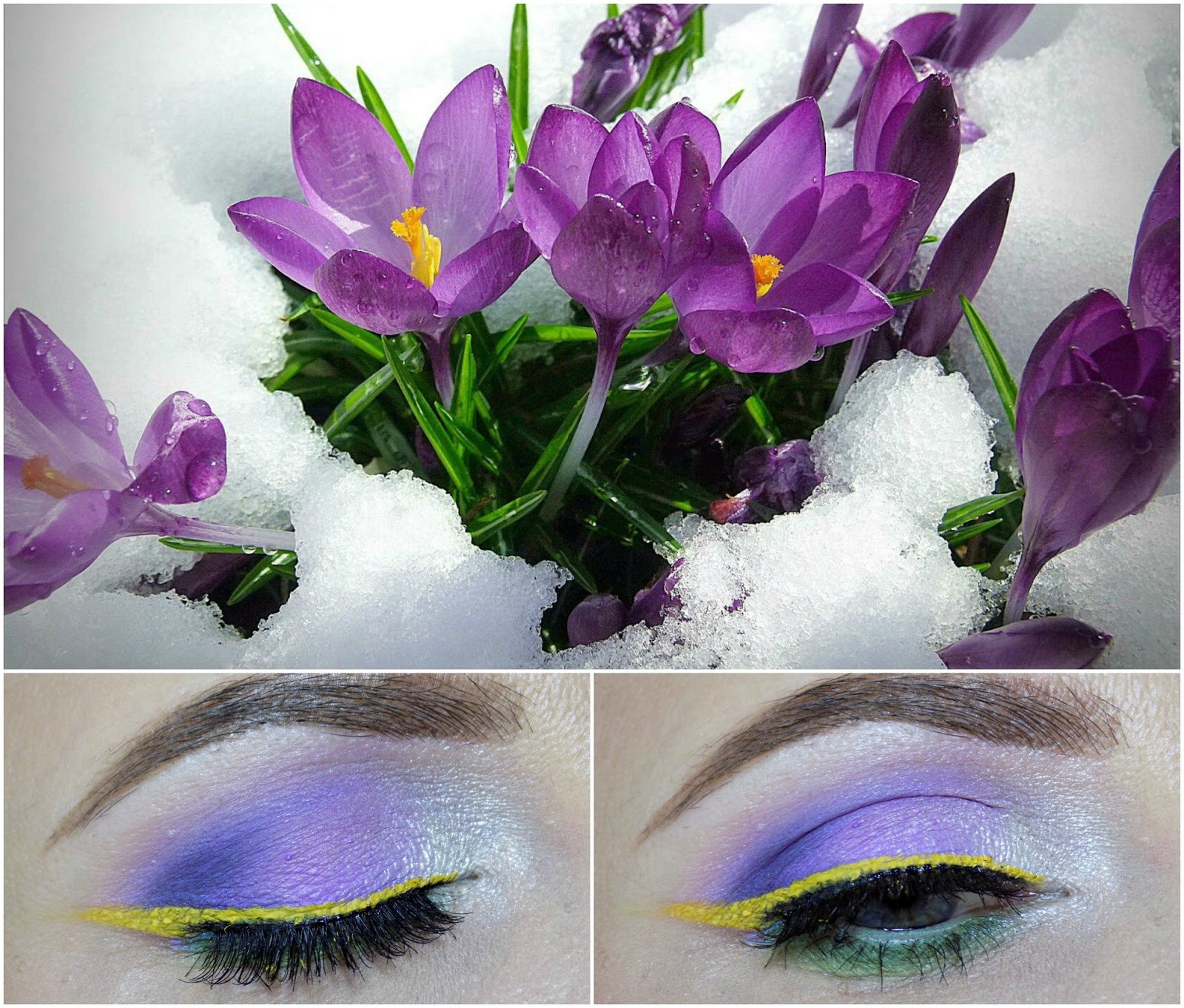 makeup inspired by crocuses