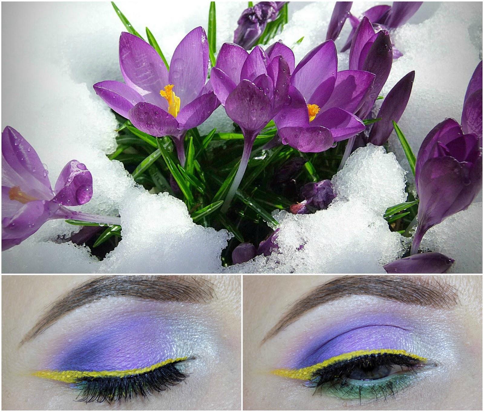 makeup inspired by crocuses