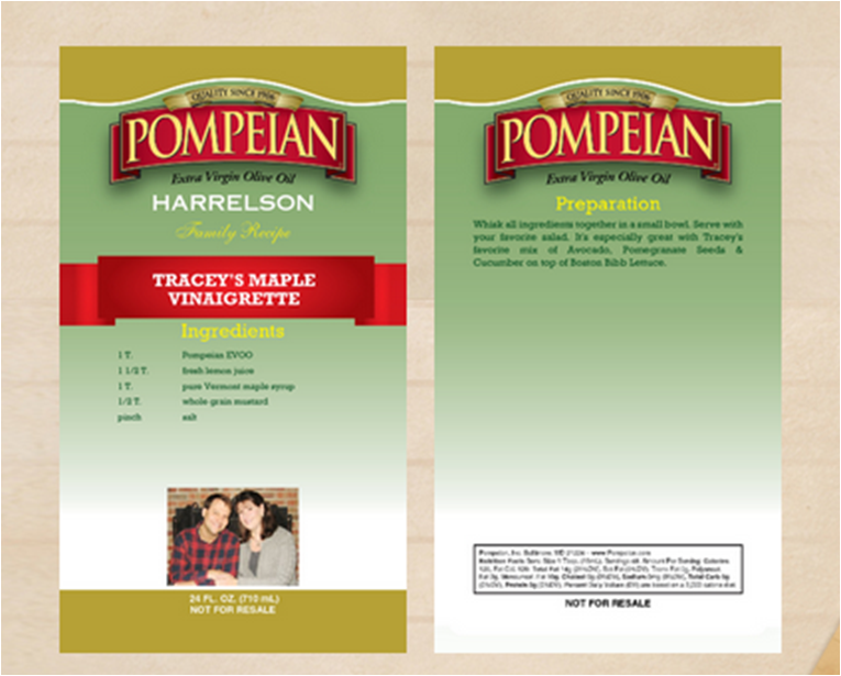 Personalized-Pompeian-Olive-Oil-Label