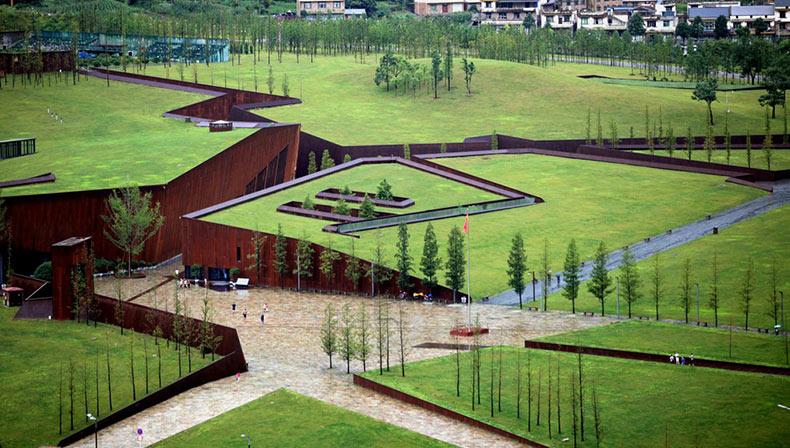 El Monumento a Wenchuan y la ciudad de Beichuan después del terremoto | China