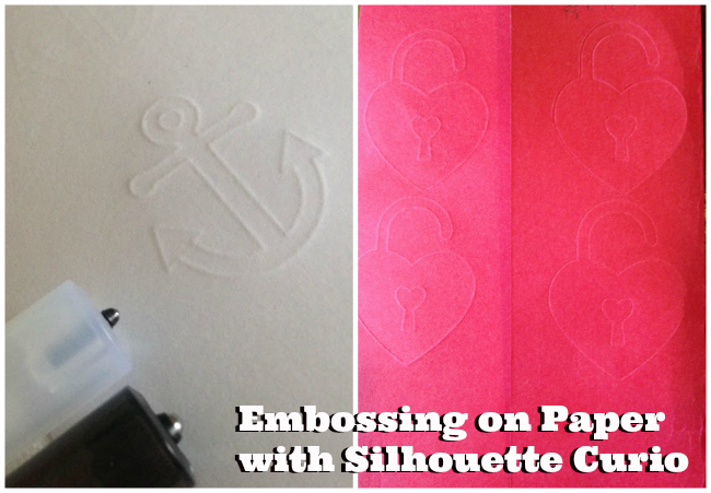 Silhouette Curio, review, first impressions, cardstock, embossing
