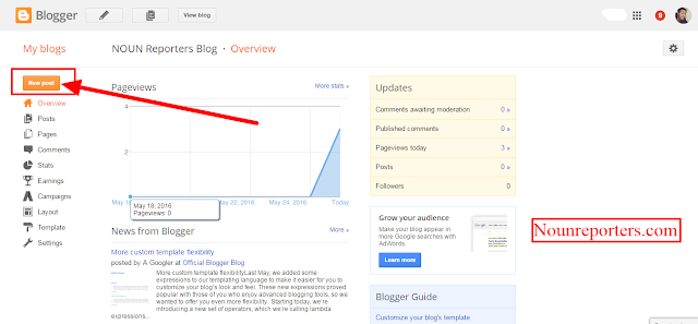 How to Publish a New Post on a Blogger Blog