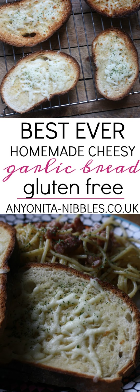 Best Ever Gluten Free Garlic Bread from Anyonita Nibbles