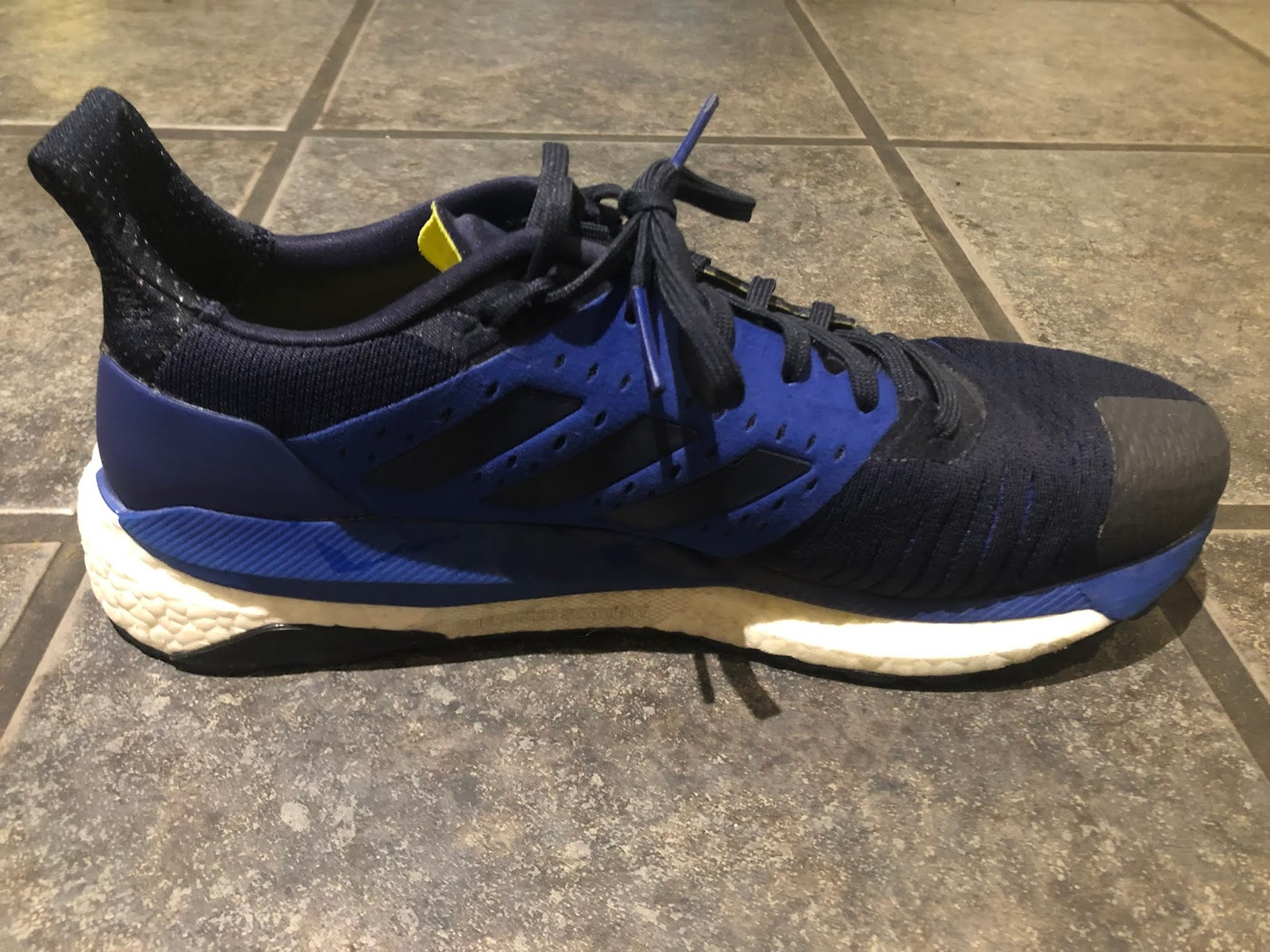 quality design 637c1 dcba4 ... very well with the Adidas logo on the side and it is possible to get a  great fit. The fit of the Adidas Solar Glide ST is great for an everyday  trainer.