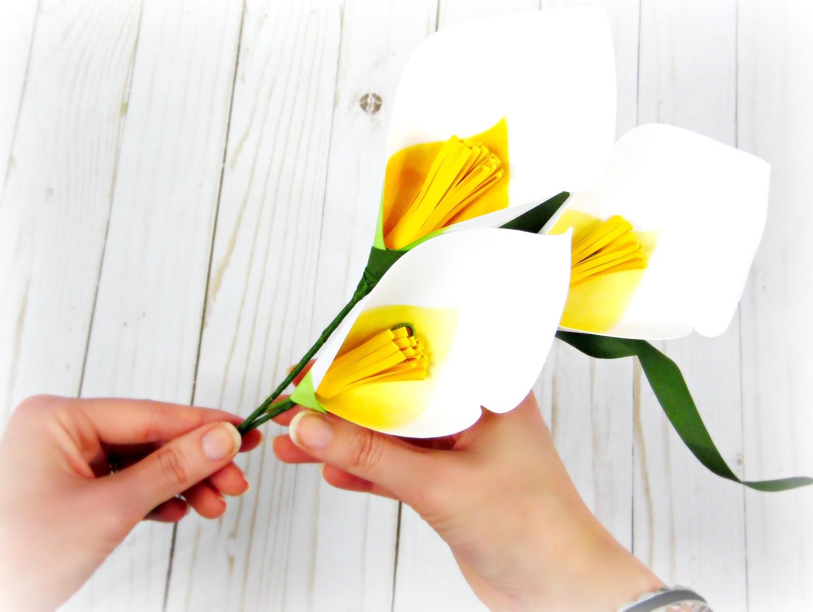 Calla Lily Paper Flowers | Dhea Fatbolous World | 1206x1600