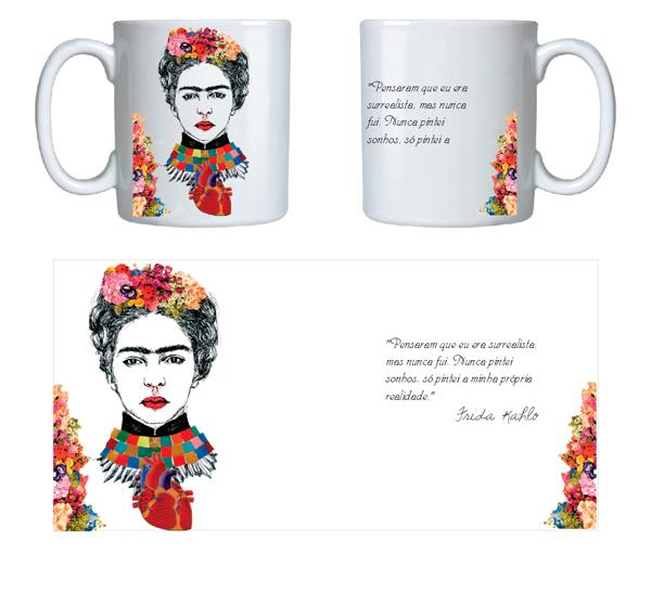 Caneca Personalizada Frida