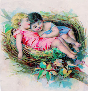children in a nest