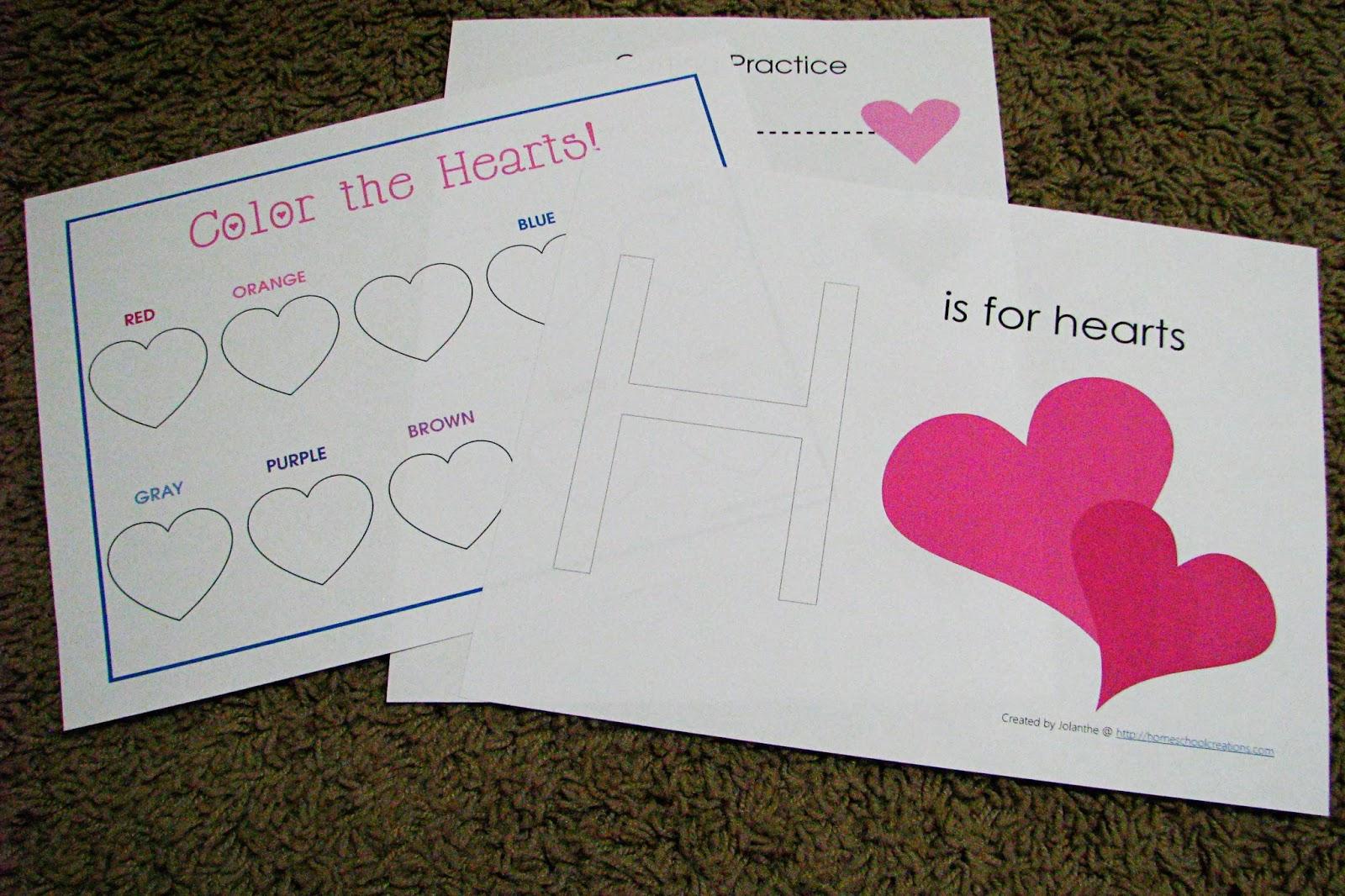 Mommy S Little Helper Letter H Hearts Preschool Theme