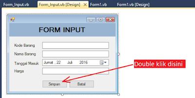 8 - Tutorial Vb.Net - Cara membuat Form Simpan(Input) Ke Database Mysql Memakai Connector Odbc
