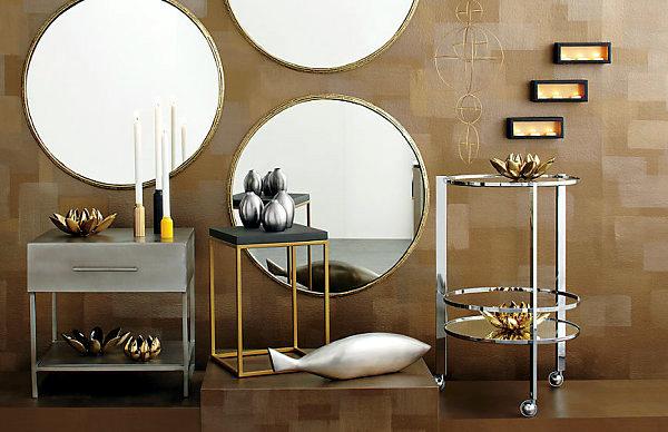 Copper and brass interior