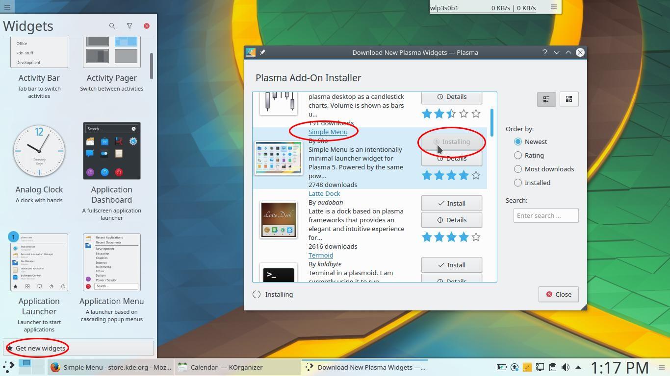 Simple Menu Launcher for KDE Plasma 5 9
