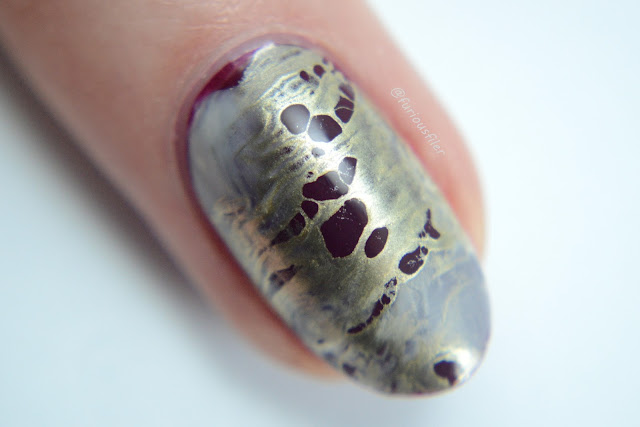 metallic chrome macro marble nail art furious filer