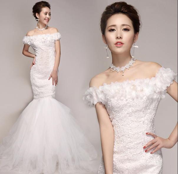 Váy đuôi cá giúp tôn lên đường nét quyến rũ cho cô dâu