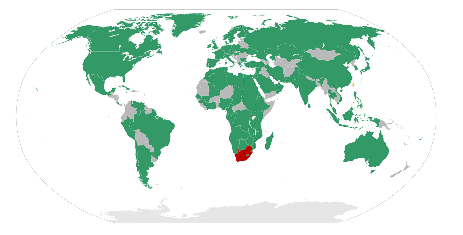 The colonies that are separated into three different broader sections