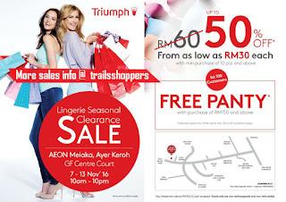 Triumph Lingerie Seasonal Clearance Sale Melaka 2016