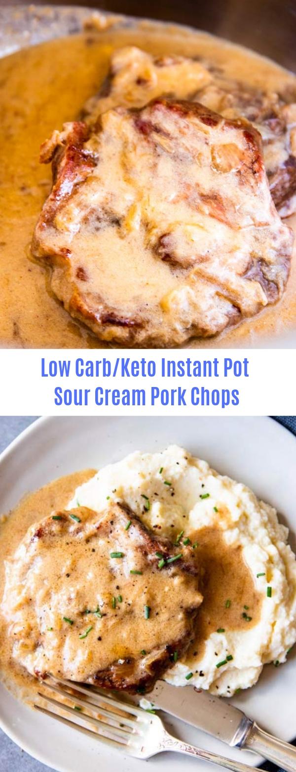 Low Carb/Keto Instant Pot Sour Cream Pork Chops