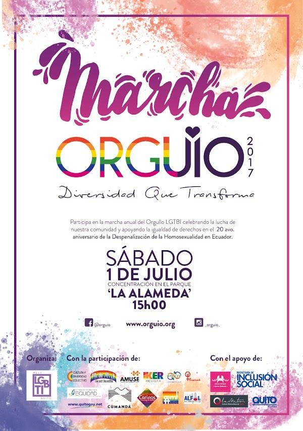Marcha ORGUIO 2017. Diversidad que transforma.
