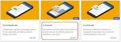 Cara Memasang Iklan Adsense In-Feed Ads