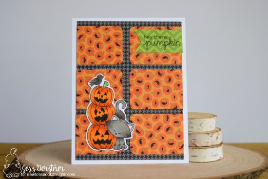 Cat Halloween Card by Jess Crafts featuring Newton's Nook Designs Newton's Boo-tiful Night