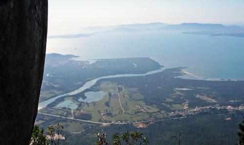 Vista do Morro Cambirela, em Palhoça, Santa Catarina