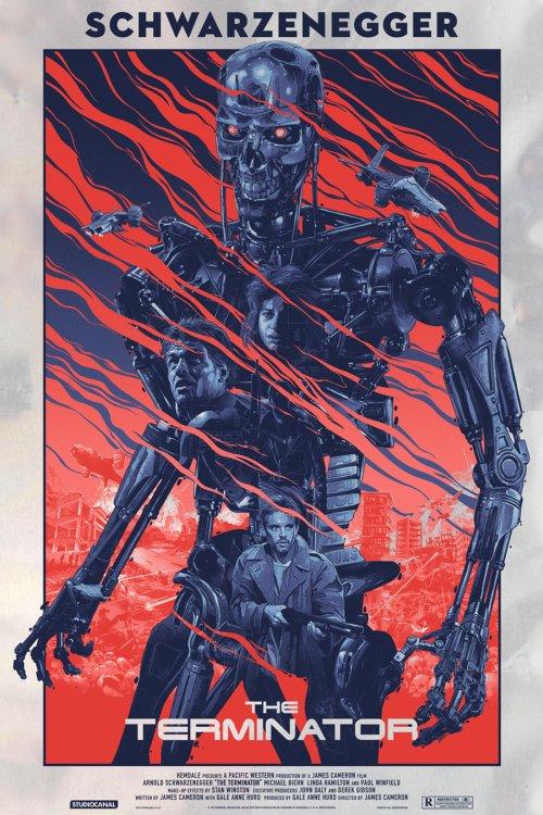 Grzegorz Domaradzki ilustrações cartazes pôsteres filmes arte cinema The Terminator (O Exterminador do Futuro)