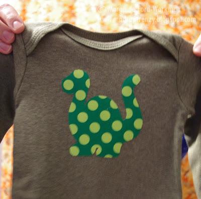 Woodland Creature Baby Shower onsie decorating