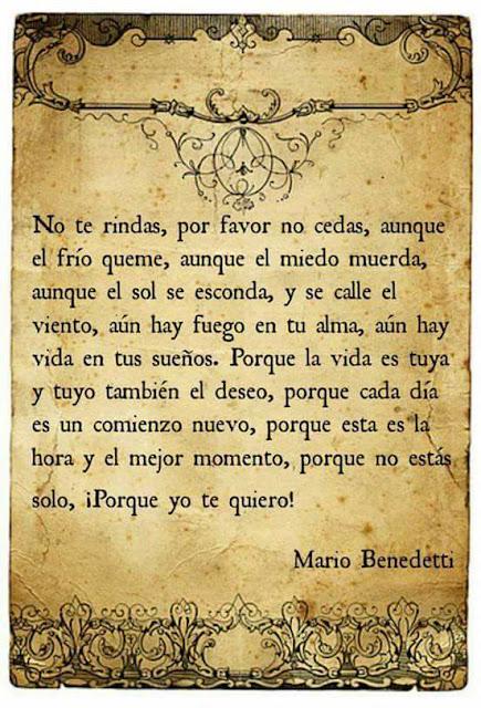 Mario Benedetti no te rindas