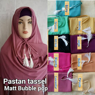 Pastan tassel bahan bubble pop terbaru