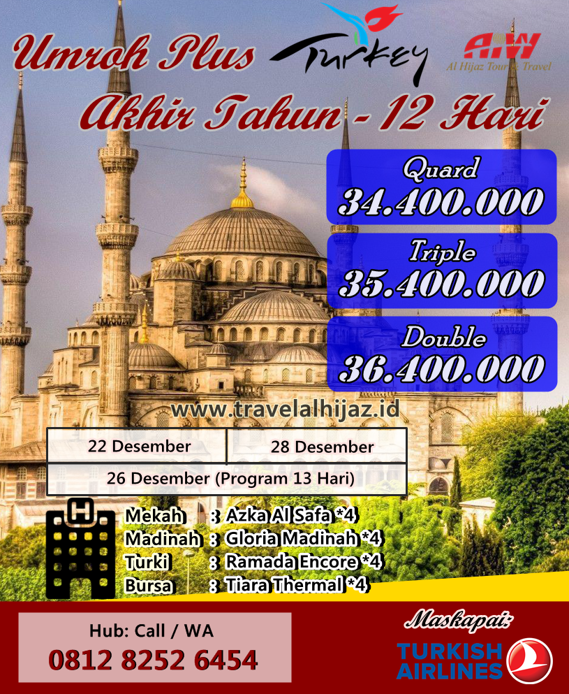 paket umroh plus turki program 10 hari