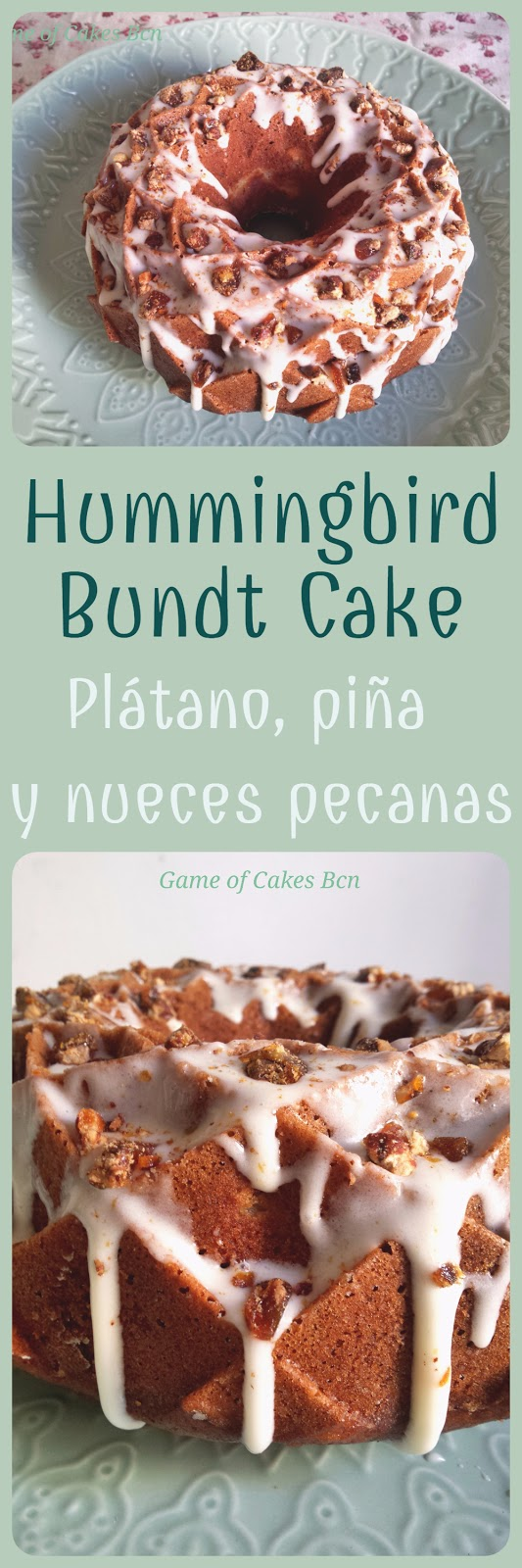 Hummingbird bundt cake, pastel colibrí, Game of Cakes Bcn