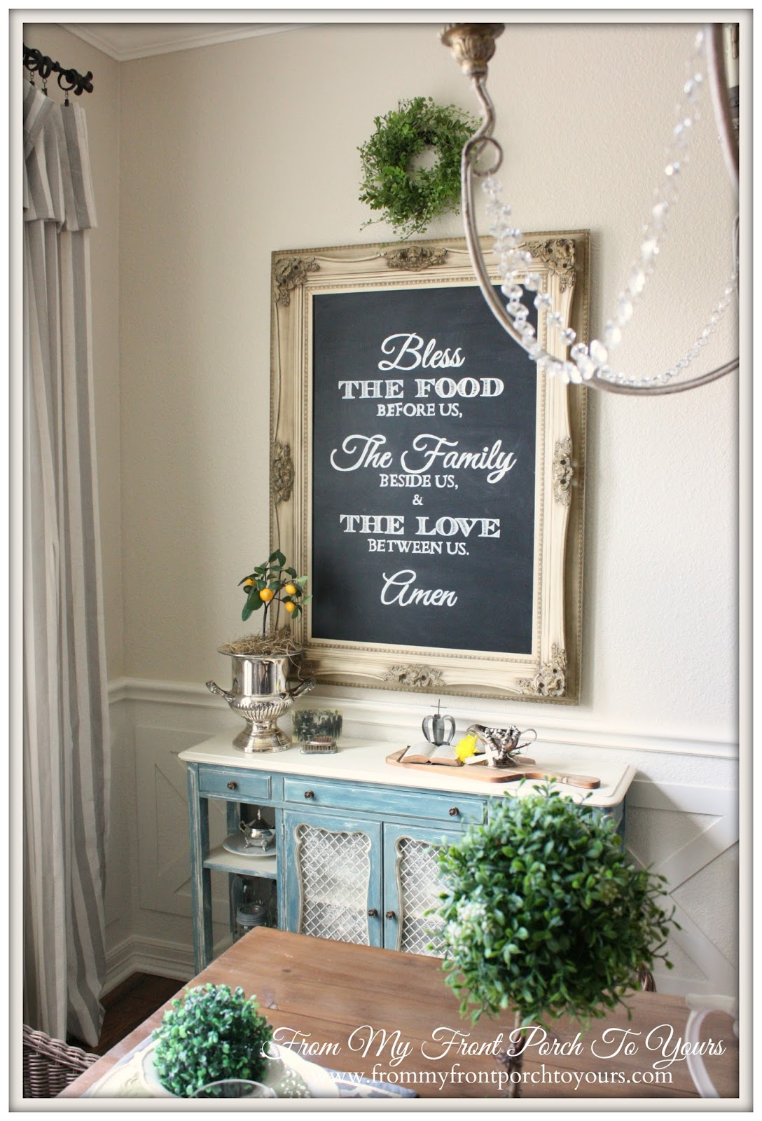 Dining Room chalk Board-How I Found My Style Sundays- From My Front Porch To Yours