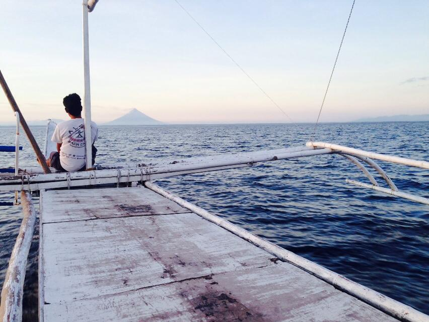 en route to Sorsogon, with a view of Mt. Mayon