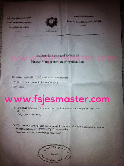 Master Management des Organisations