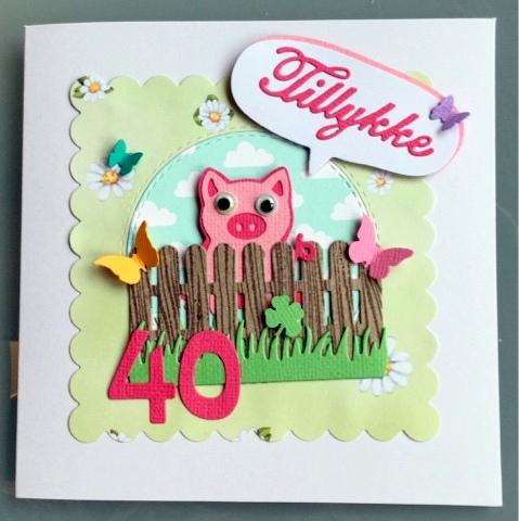 kort 40 år Hjemme hos Charlie: Kort til Mie's venindes 40 års fødselsdag. kort 40 år